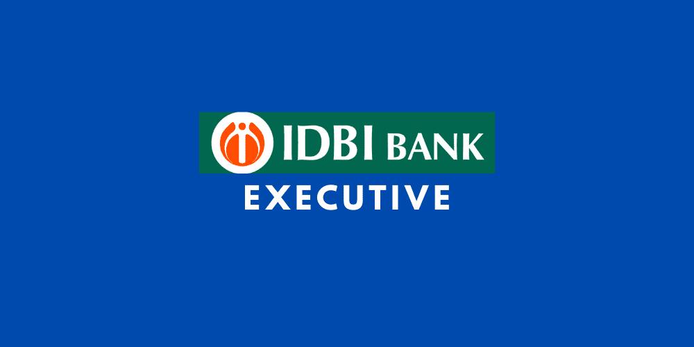 idbi bank executive recruitment